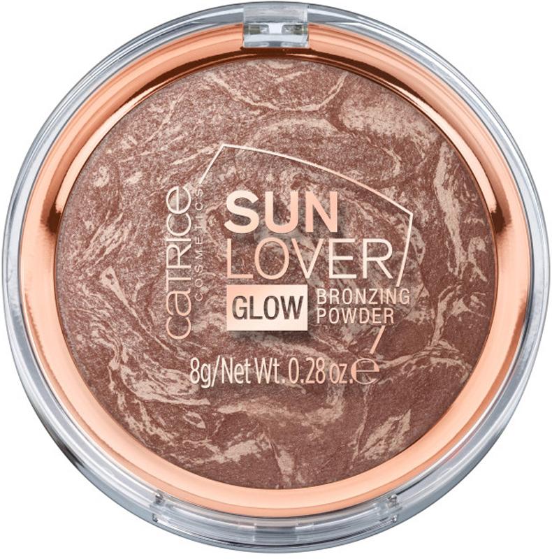 Catrice Компактная пудра с эффектом загара Sun Lover Glow Bronzing Powder, 010 Sun-Kissed Bronze, 60 г бронзирующая пудра sun glow matt bronzing powder catrice лицо