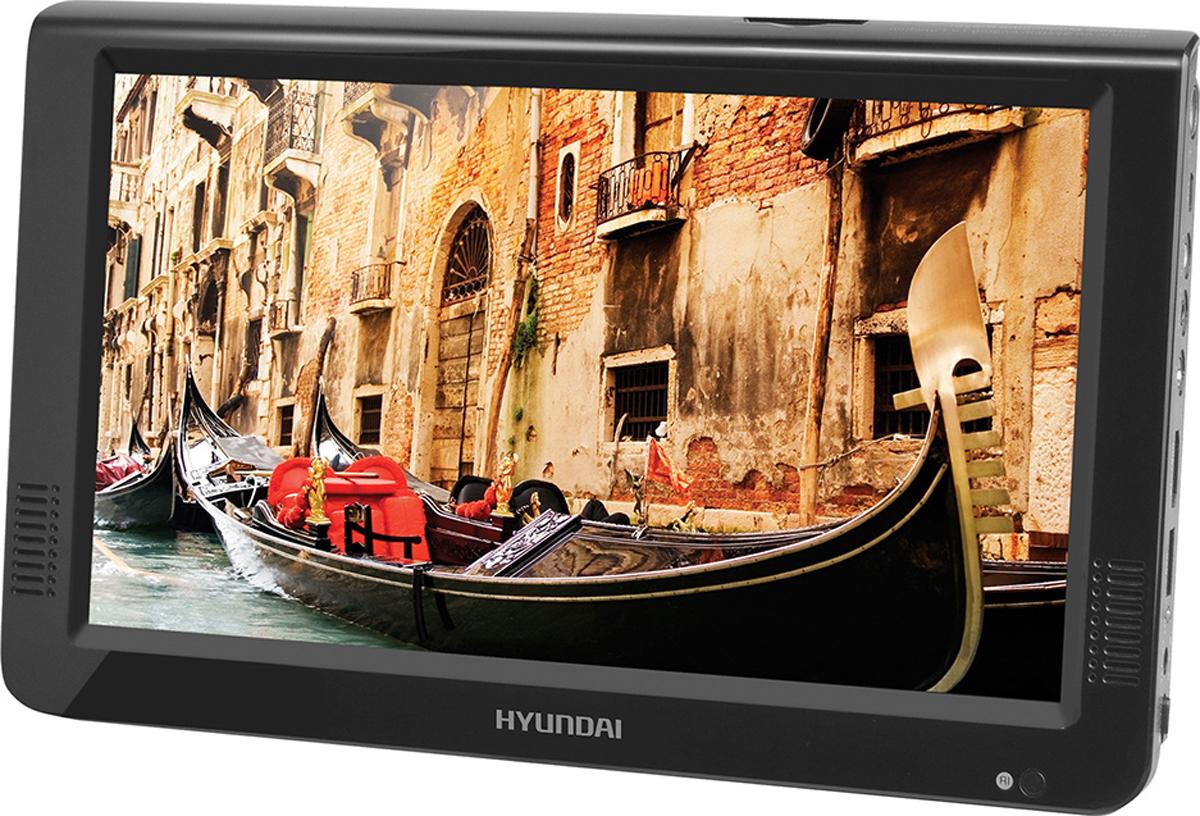 Автомобильный телевизор HYUNDAI 10, черныйH-LCD1000Компания Hyundai представляет новые автомобильные телевизоры серии H-LCD диагональю экрана 7, 9 и 10 дюймов. Все три модели из данной линейки совместимы со многими распространенными мультимедийными форматами и воспроизводят файлы с карт памяти SD/MMC и USB-накопителей, а также поддерживают такие форматы, как MP3, JPG и MPEG4. Кроме того, здесь осуществлена поддержка систем PAL, NTSC, SECAM. Портативные телевизоры оснащаются встроенным тюнером и собственной акустикой, которые позволяют использовать его без подключения дополнительных устройств. Новинки осуществляют прием цифровых (DVB-Т2) и аналоговых сигналов. Дисплей телевизоров с максимальной яркостью - 500 кд/м2, обеспечивает минимальное потребление энергии и широкий угол обзора по вертикали и горизонтали. Помимо стильного внешнего вида и многофункциональности устройства характеризуются продуманным комплектом аксессуаров (в комплект поставки входят ТВ-антенна, AV-кабель, сетевой адаптер, пульт ДУ). Встроенный аккумулятор емкостью 1200mAh позволяет смотреть программы в любом месте даже при отсутствии электросети. Характеристики:Система ТВ: PAL/SECAM/NTSC Встроенный ТВ-тюнер Dual: аналоговый и DVB-T2 Емкость встроенного аккумулятора 1200мАчПульт ДУ Адаптер питания от сети переменного тока Антенный вход Угол обзора 165/165 Контрастность 300:1 Яркость 500 кд/м2Поддержка MP3 Поддержка JPG Интерфейс USB Композитный вход Рекомендуем!