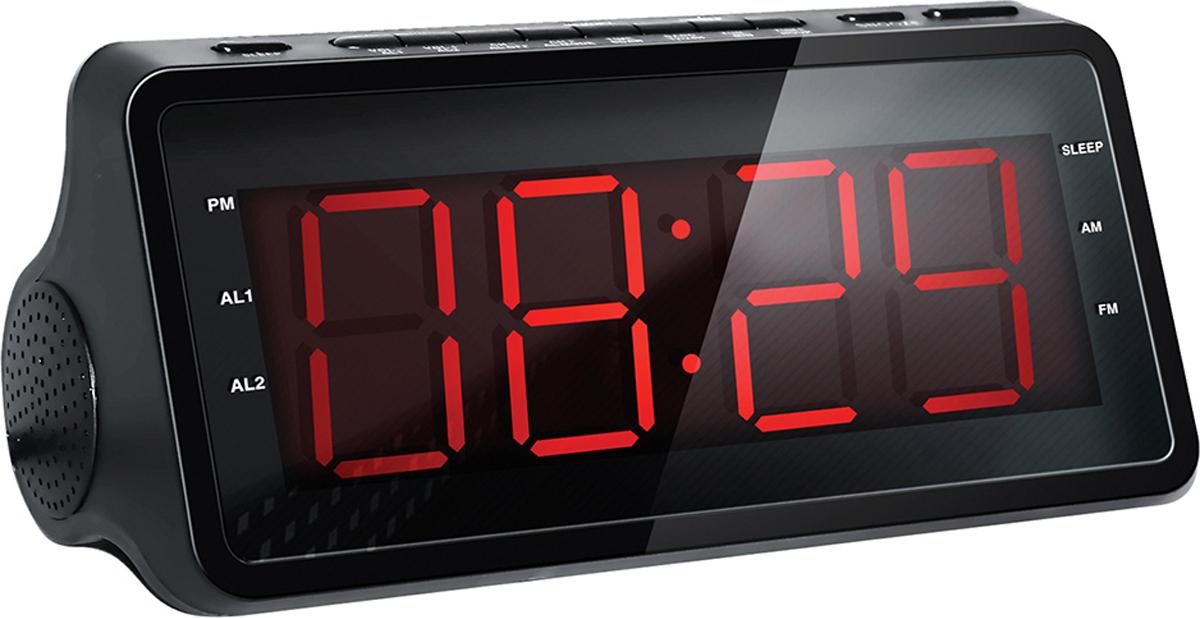 Радио-будильник Hyundai H-RCL140 hyundai h rcl120 радио будильник