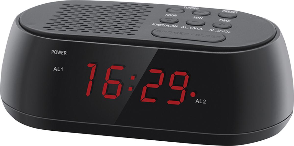 Радио-будильник Hyundai H-RCL210 радиобудильник hyundai h rcl210 красная подсветка черный