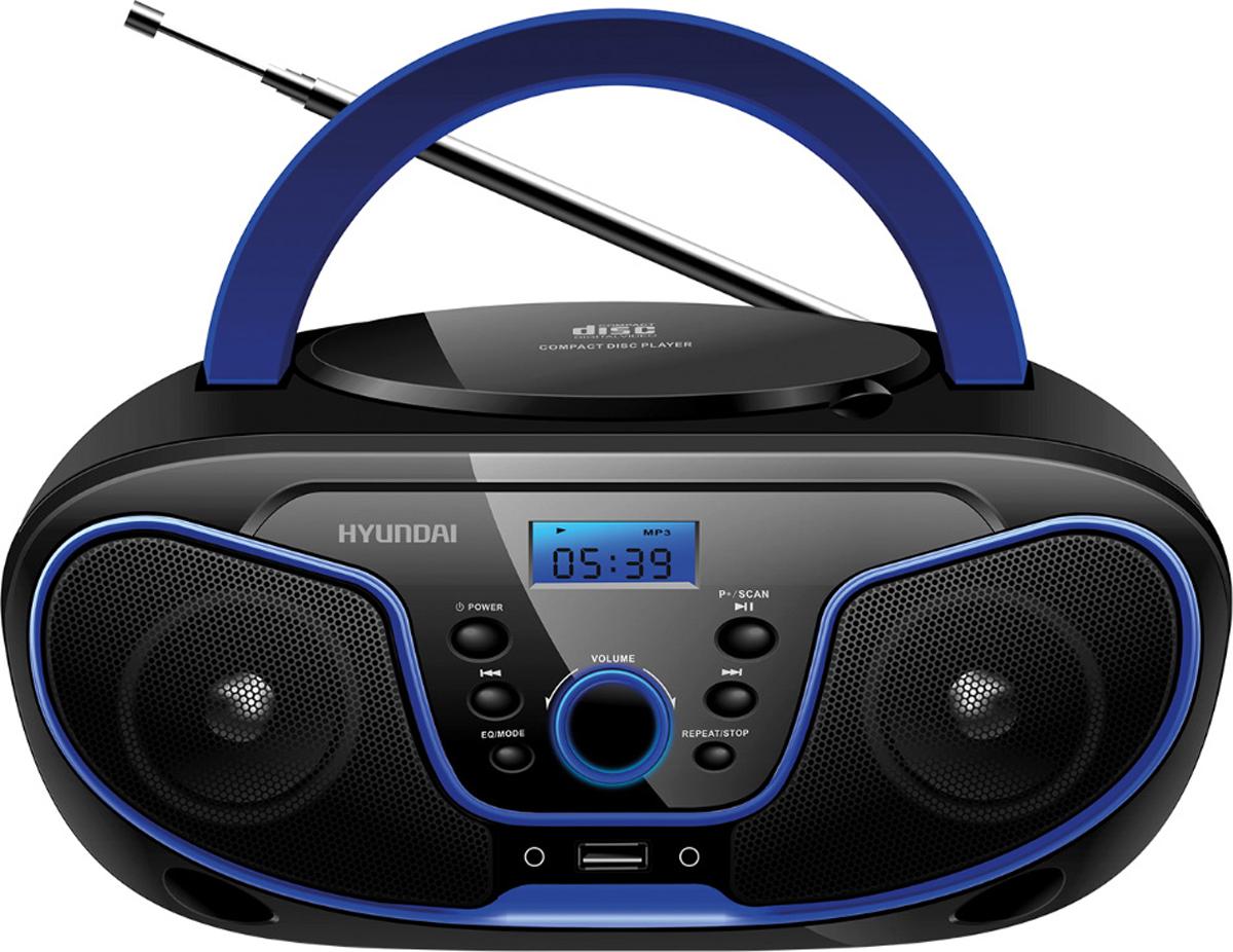 Магнитола Hyundai H-PCD160, Black Blue hyundai h pcd160 black blue магнитола