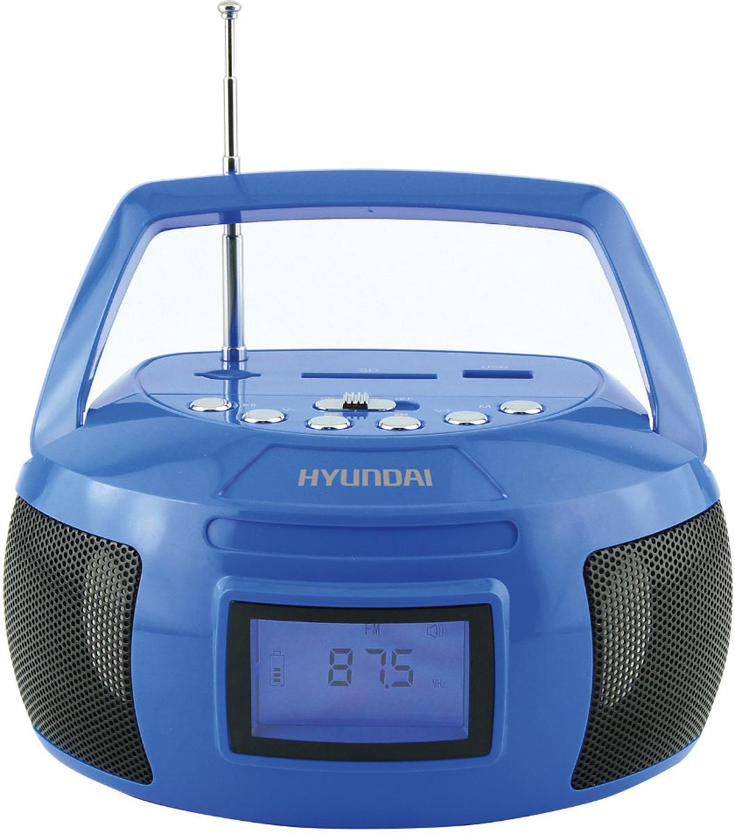 лучшая цена Магнитола Hyundai H-PAS160, Blue