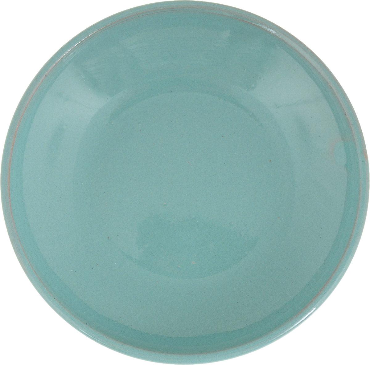 Фото - Блюдце Борисовская керамика Радуга, цвет: бирюзовый, диаметр 10 см блюдце борисовская керамика радуга цвет темно серый диаметр 10 см