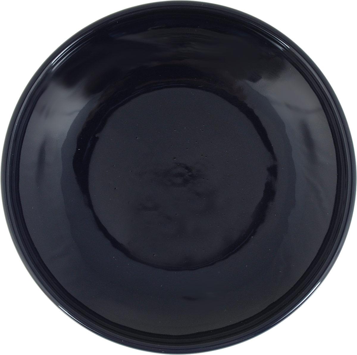Фото - Блюдце Борисовская керамика Радуга, цвет: синий, диаметр 10 см блюдце борисовская керамика радуга цвет темно серый диаметр 10 см