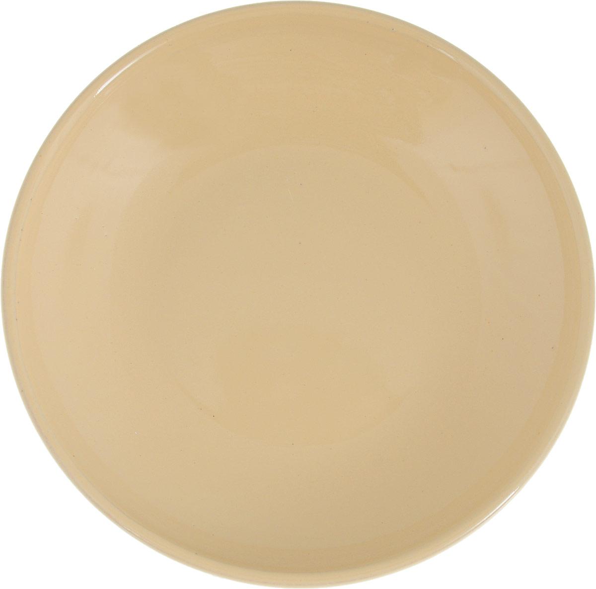 Фото - Блюдце Борисовская керамика Радуга, цвет: бежевый, диаметр 10 см блюдце борисовская керамика радуга цвет темно серый диаметр 10 см