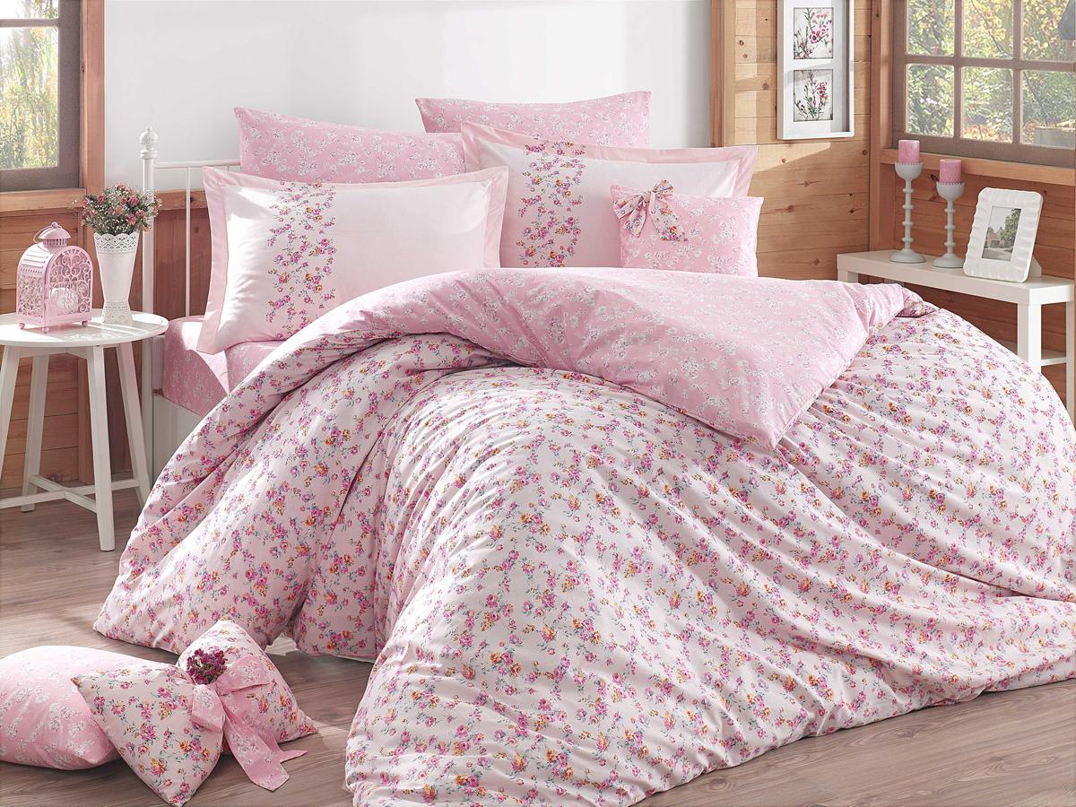 """Комплект белья Hobby Home Collection """"Luisa"""", 1,5-спальный, наволочки 50x70, 70х70, цвет: розовый"""