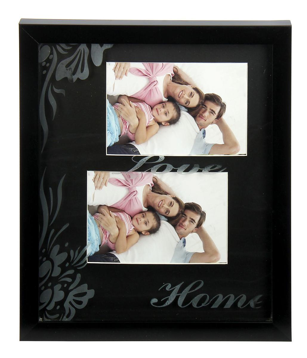 """Фоторамка """"Любовь"""", 10 х 15 см, цвет: черный. 158677"""
