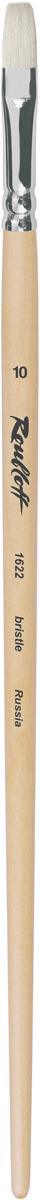 Roubloff Кисть 1622 щетина плоская № 4 длинная ручка roubloff кисть 1222 синтетика плоская 36 длинная ручка