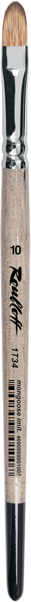 Roubloff Кисть 1T34 синтетика овальная № 10 короткая ручка roubloff кисть 1632 щетина овальная 36 длинная ручка