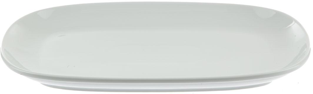 """Блюдо """"Nuova Cer"""", прямоугольное, цвет: белый, 27 см"""