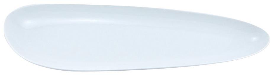"Блюдо Nuova Cer ""Муд Белое"", цвет: белый, 13 х 41 см"