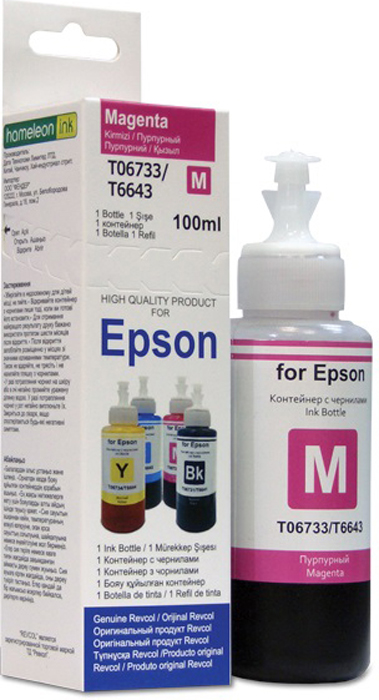Revcol EL 100 M Magenta, чернила для принтеров Epson, серия L, 100 мл
