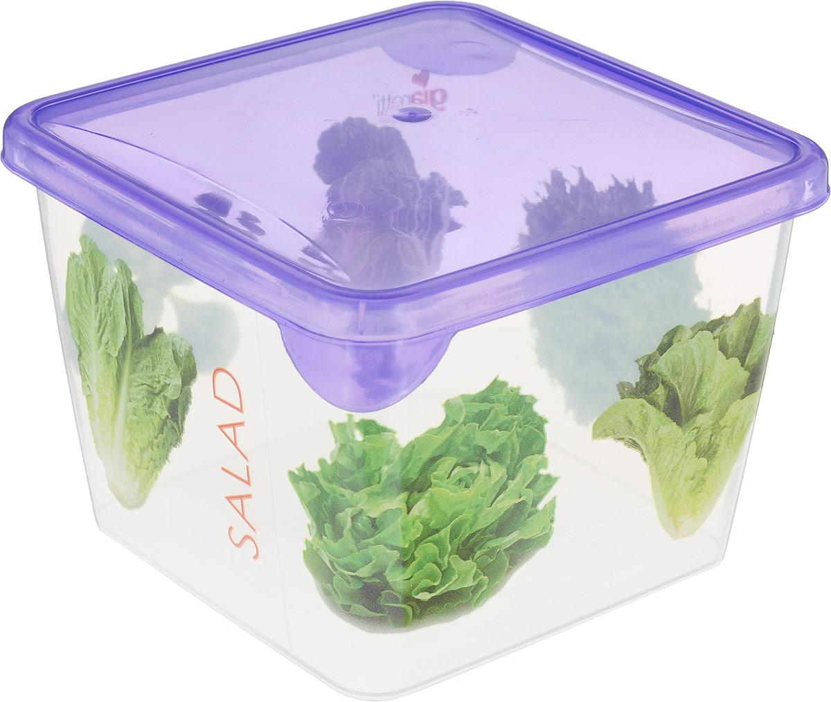 Емкость для продуктов Giaretti Браво, цвет: фиолетовый, прозрачный, 750 мл. GR1065 емкость для продуктов giaretti браво цвет белый прозрачный 900 мл gr1068