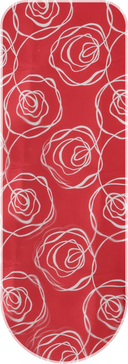 Чехол для гладильной доски Attribute Express, цвет: красный, 140 х 60 см чехол для гладильной доски attribute express цвет зеленый 140 х 60 см