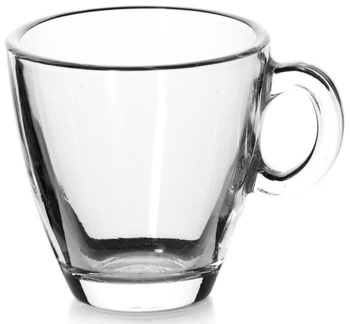 """Чашка кофейная """"Pasabahce"""", цвет: прозрачный, 72 мл"""
