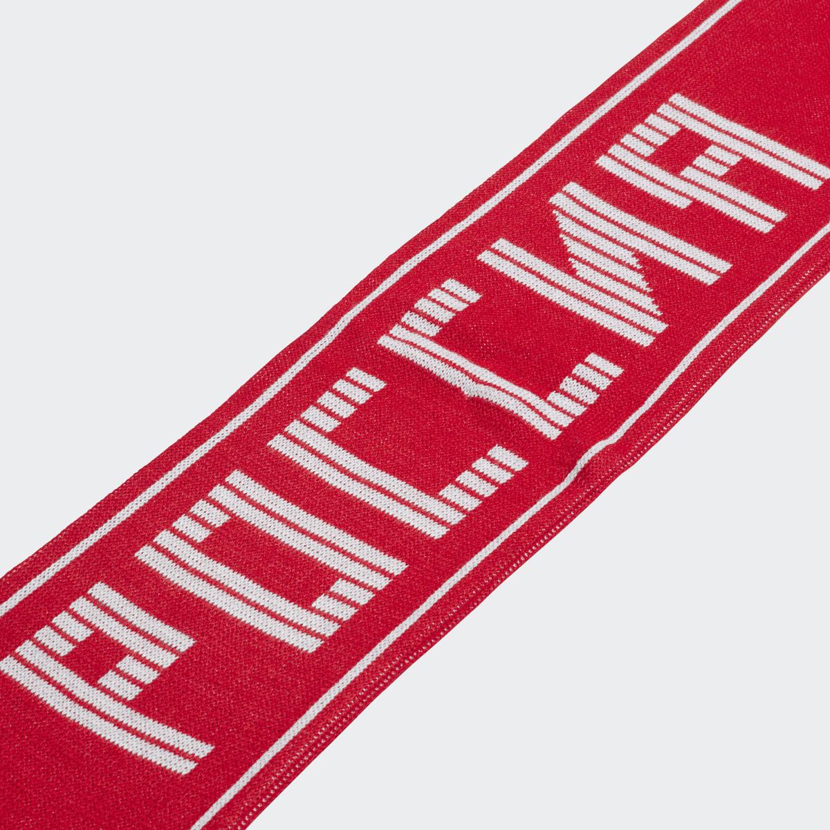 Шарф Adidas CF SCARF RUS, цвет: красный, белый. CF5173. Размер универсальный календарь чемпионата россии
