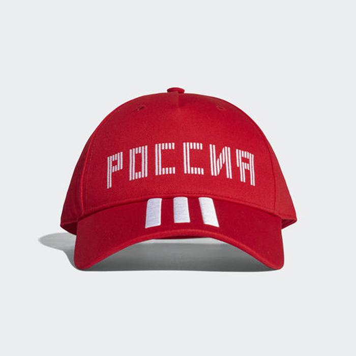 Бейсболка Adidas CF CAP RUS, цвет: красный. CF5186. Размер 54/55