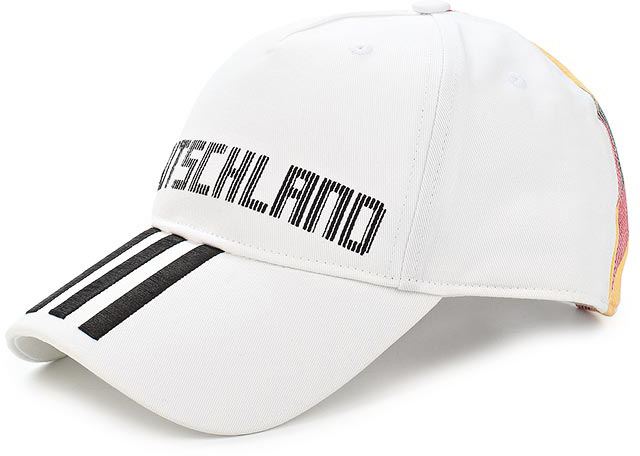Бейсболка Adidas CF CAP DEU, цвет: белый. CF5196. Размер 60/62 пуховик мужской adidas helionic ho jkt цвет темно синий bq1998 размер xxl 60 62
