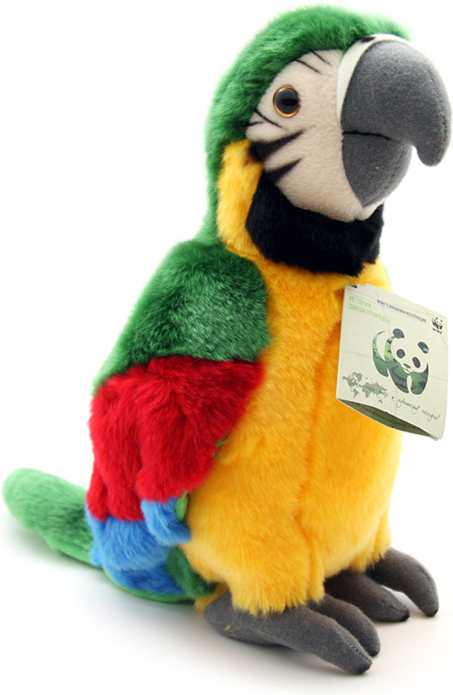 WWF Мягкая игрушка Зеленый попугай 23 см