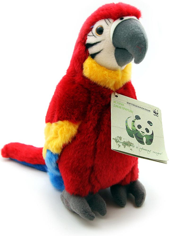 WWF Мягкая игрушка Красный попугай 23 см