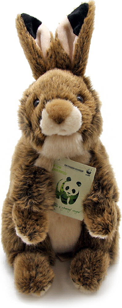 WWF Мягкая игрушка Кролик цвет коричневый 25 см