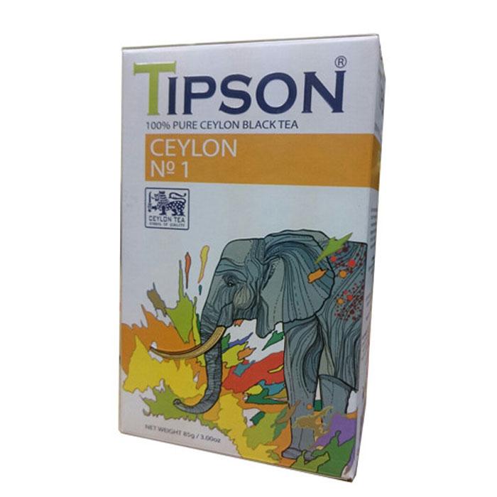 Tipson Ceylon №1 черный листовой чай, 85 г80001-00Чай чёрный цейлонский байховый листовой Tipson Ceylon №1. Чай, произрастающий на острове Цейлон, давно признан лучшим в мире. Эксперты Tipson предлагают вам чай №1, в котором найден гармоничный баланс между силой вкуса и элегантностью аромата. Уважаемые клиенты! Обращаем ваше внимание на возможные изменения в дизайне упаковки. Качественные характеристики товара остаются неизменными. Поставка осуществляется в зависимости от наличия на складе.