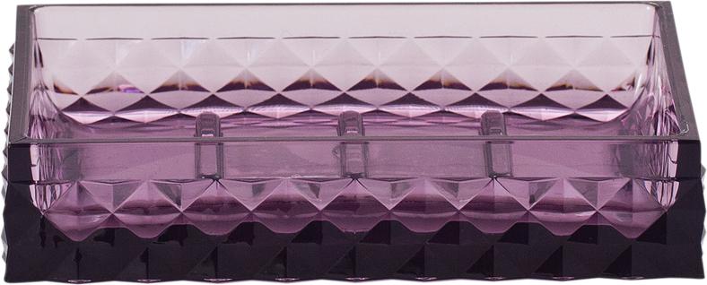 Мыльница Swensa Rapas, цвет: фиолетовый, 12 х 8,5 х 2,5 см мыльница libra plast цвет фиолетовый lp0046
