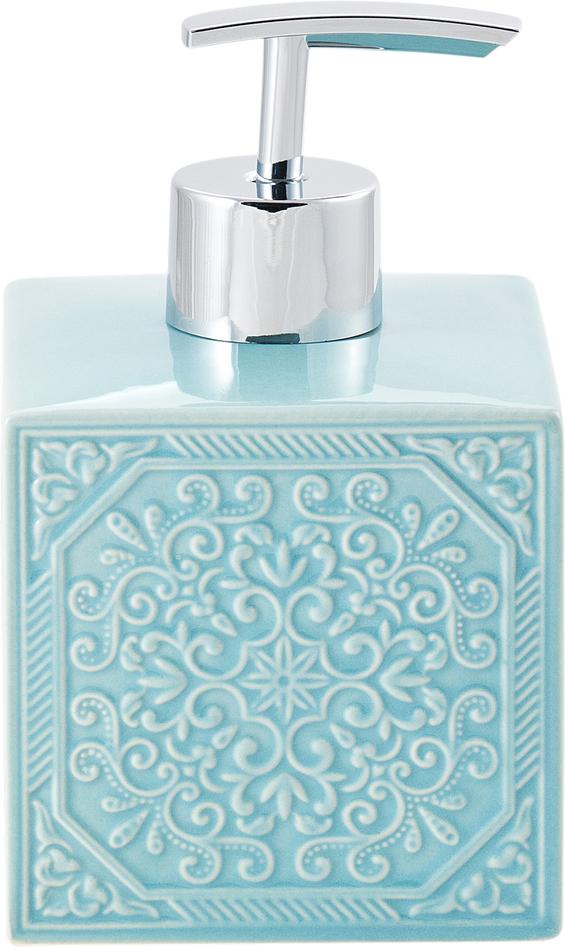 "Диспенсер для мыла Swensa ""Тифани"", цвет: бирюзовый, 250 мл"
