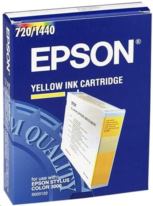 Картридж Epson S020122, желтый, для струйного принтера, оригинал