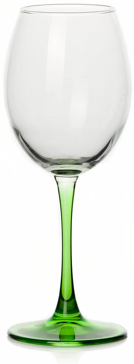 """Бокал Pasabahce """"Энжой Грин"""", цвет: зеленый, 440 мл"""