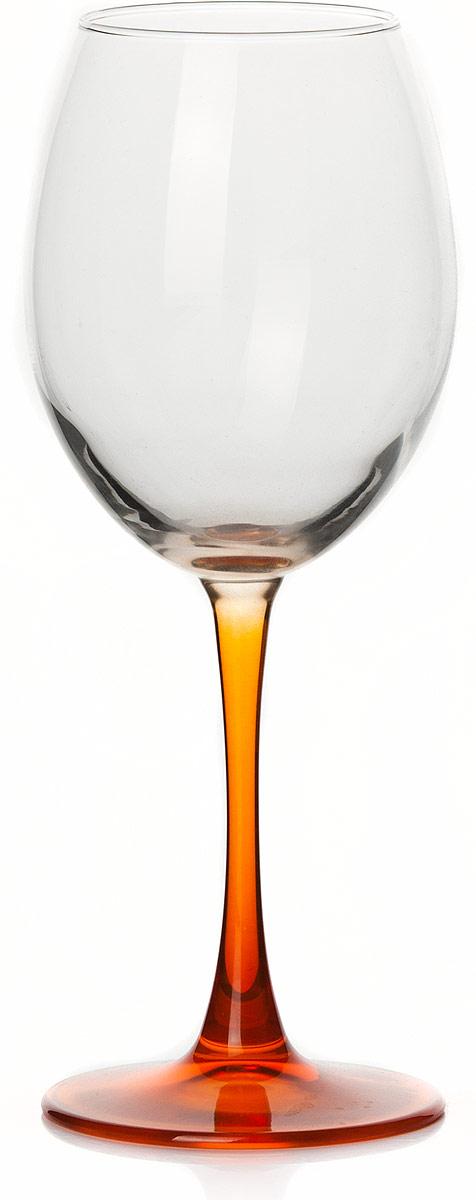 Бокал Pasabahce Энжой Оранж, цвет: оранжевый, прозрачный, 440 мл креманка pasabahce энжой оранж цвет оранжевый 250 мл