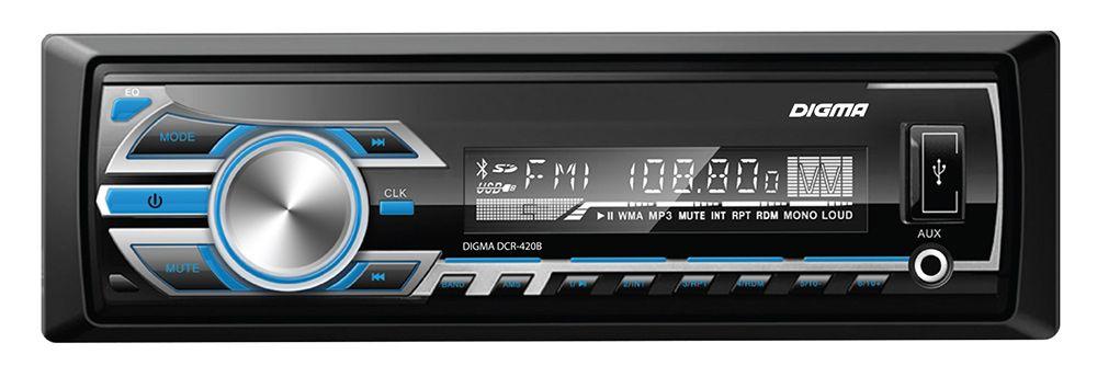 Digma DCR-420G, Black автомагнитола автомагнитола digma dcr 420b