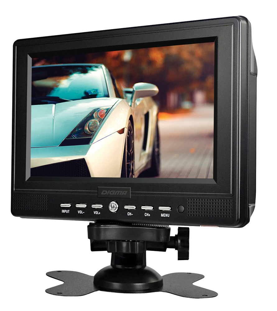 Автомобильный телевизор Digma 7, черный монитор в авто digma dcl 700