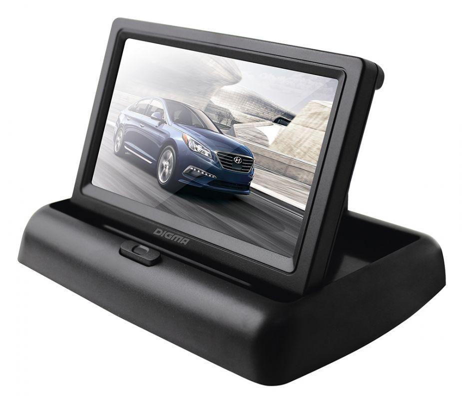 Автомобильный монитор Digma 4.3, черный монитор в авто digma dcl 700