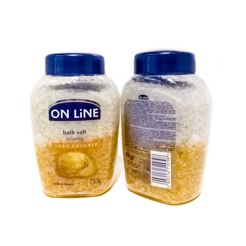 Forte Sweden On Line Соль для ванн Молоко и мед, 750 г