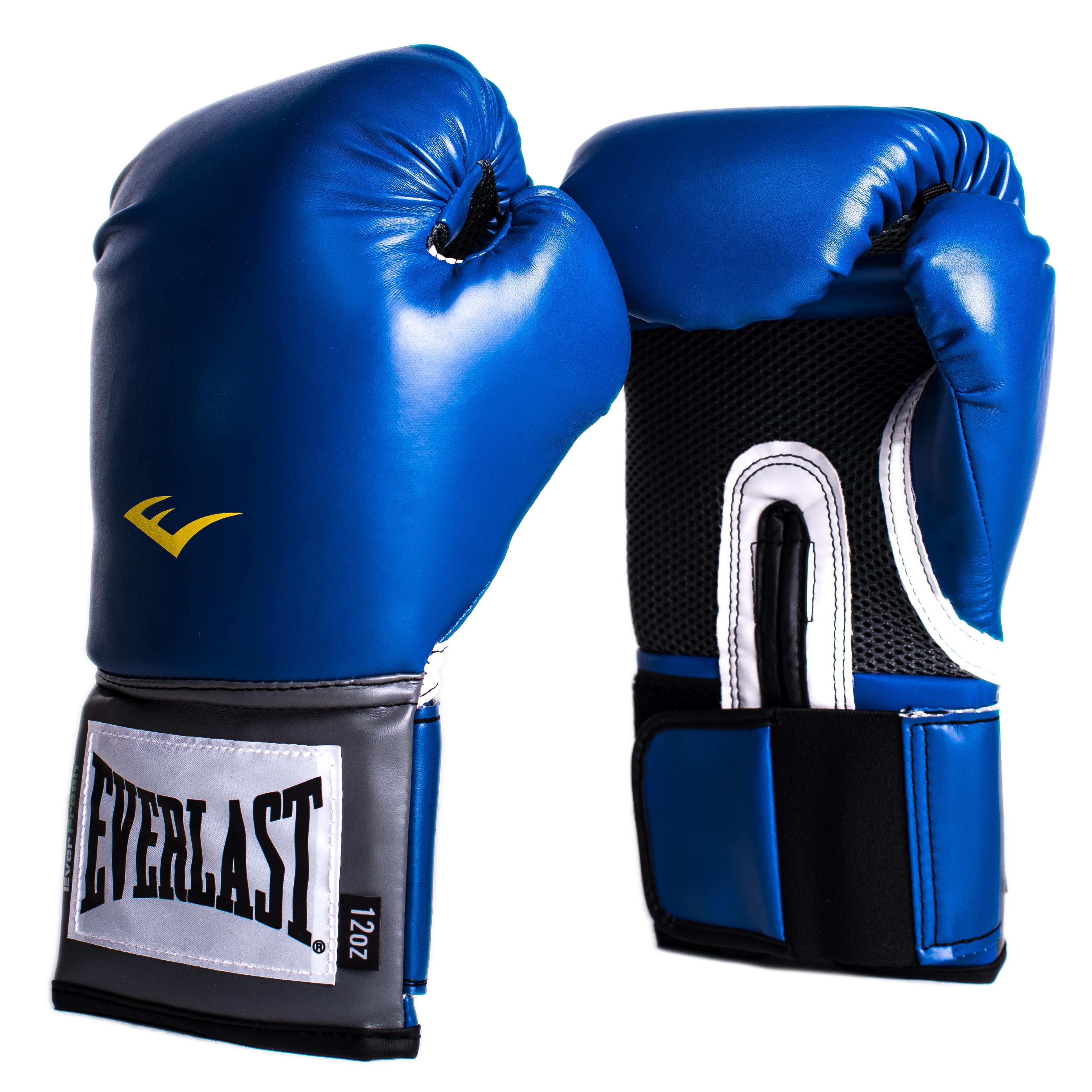 """Перчатки тренировочные Everlast """"Pro Style Anti-MB"""", цвет: синий. Вес 8 унций"""