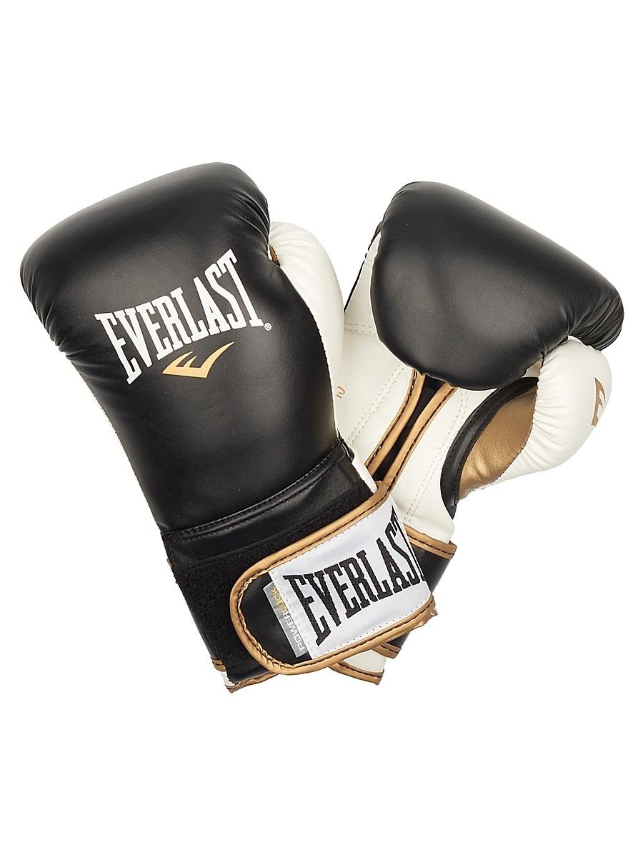 Перчатки тренировочные Everlast Powerlock, цвет: черный, белый. Вес 16 унций мультитул powerlock eod black oxide черный sog