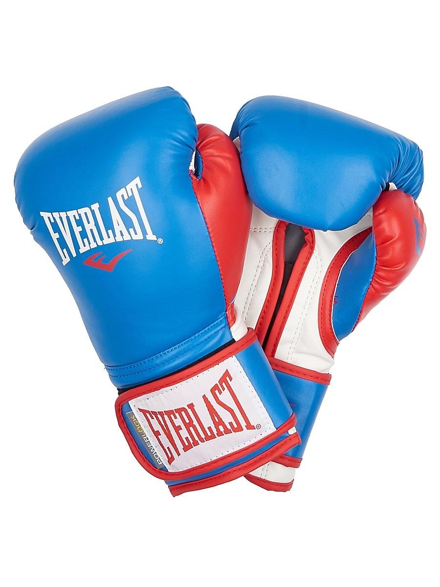 Перчатки тренировочные Everlast Powerlock, цвет: синий, красный. Вес 14 унцийP00000727Новая линейка тренировочных перчаток для бокса PowerLock. Изготовлены из искусственной кожи в обновленной цветовой гамме. Являются сочетанием инновационных технологий изготовления и традиционной передовой технологии PowerLock.