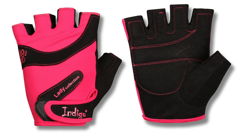 """Перчатки атлетические """"Indigo"""", цвет: розовый, черный. Размер M"""