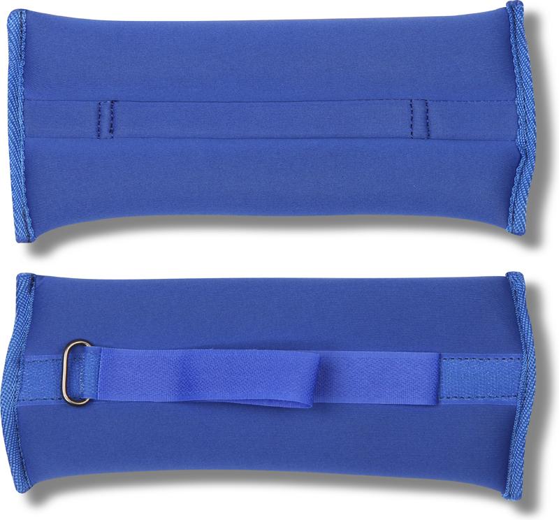 Утяжелитель спортивный Indigo Неопреновые, цвет: синий, 0,2 кг, 2 шт утяжелитель браслет для рук indigo цвет синий 0 3 кг 2 шт
