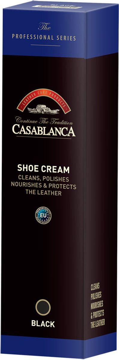 Крем-воск для полировки обуви черный Casablanca Professional Casablanca