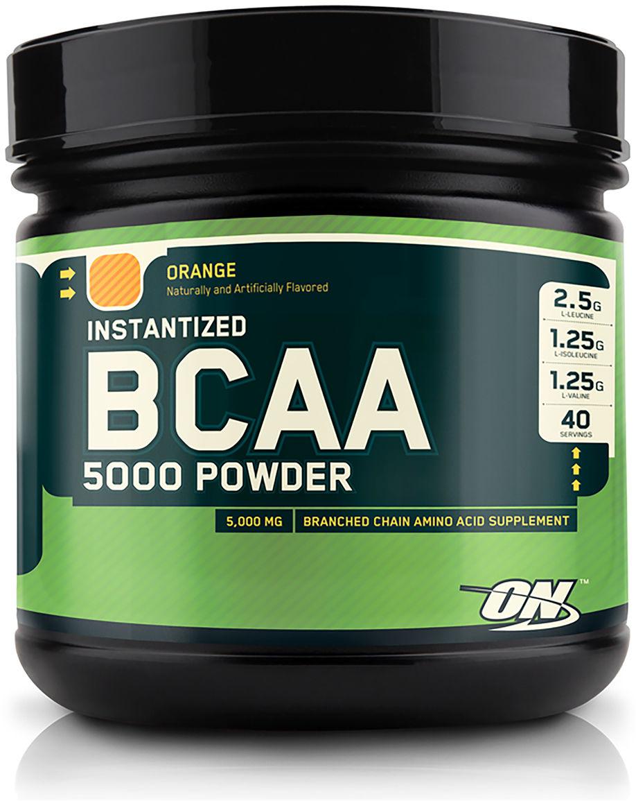 Аминокислоты Optimum Nutrition BCAA 5000 Powder, апельсин, 345 г цена