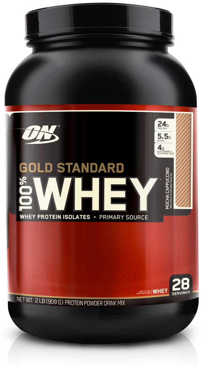 Протеин Optimum Nutrition 100% Whey Protein Gold Standard, кофе, 900 г цена