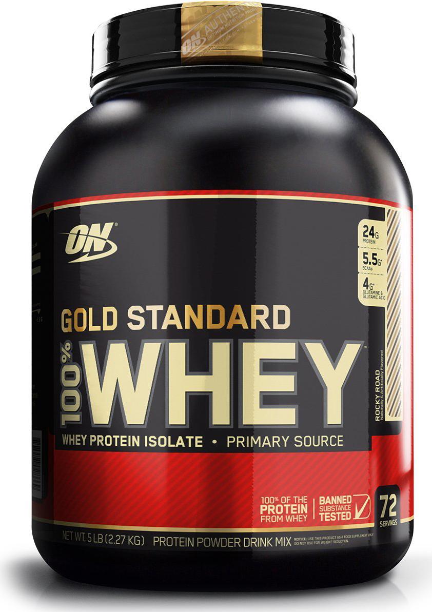 цена на Протеин Optimum Nutrition 100% Whey Protein Gold Standard, роки роуд, 2,26 кг