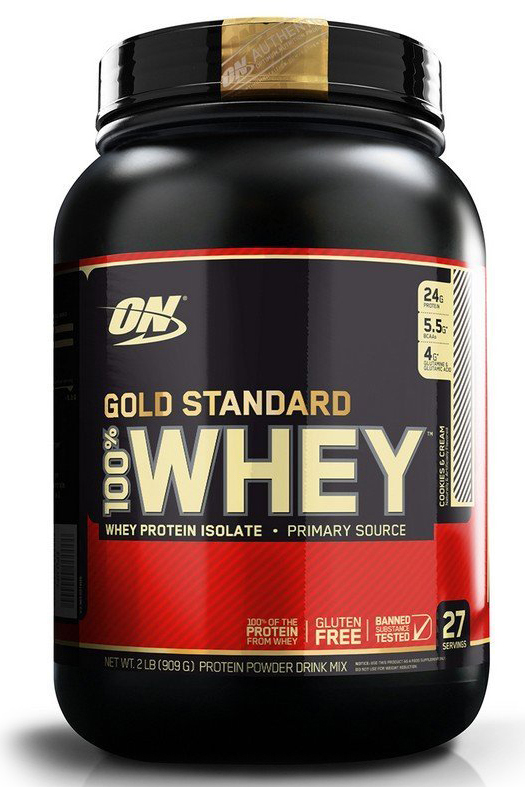 Протеин Optimum Nutrition 100% Whey Protein Gold Standard, печенье, 900 г цена