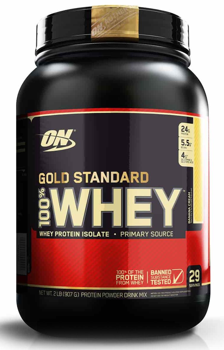 цена на Протеин Optimum Nutrition 100% Whey Protein Gold Standard, банан, 900 г