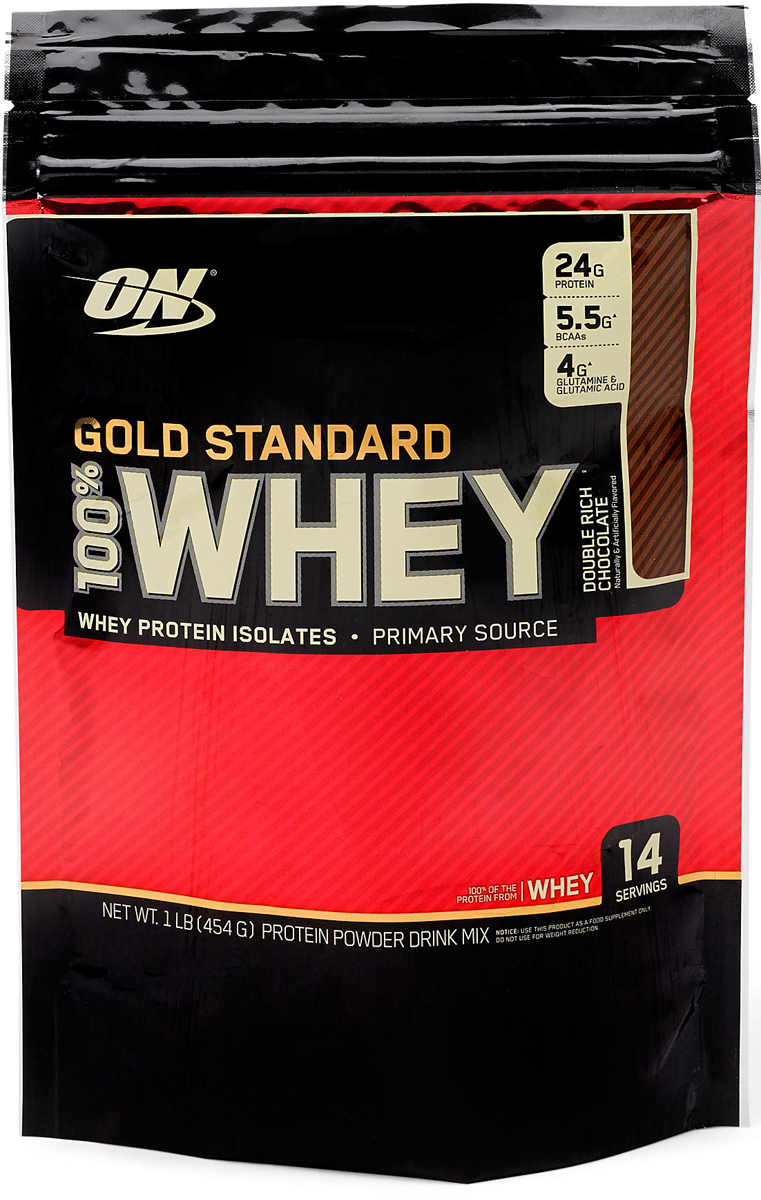 Протеин Optimum Nutrition 100% Whey Protein Gold Standard, шоколад, 450 г цена