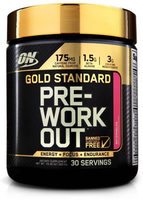 Предтренировочный комплекс Optimum Nutrition Gold Standard PRE-Workout, арбуз, 300 г кружка printio optimum nutrition bcaa