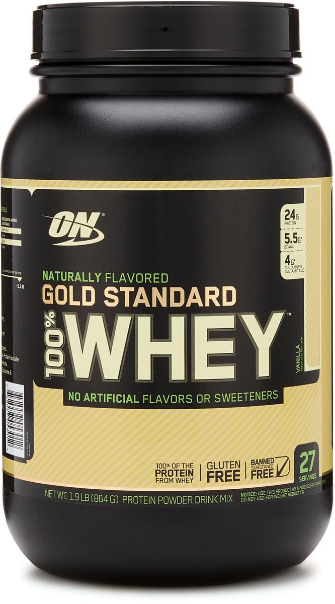 цена на Протеин Optimum Nutrition 100% Natural Whey Gold Standard Gluten Free, ваниль, 860 г