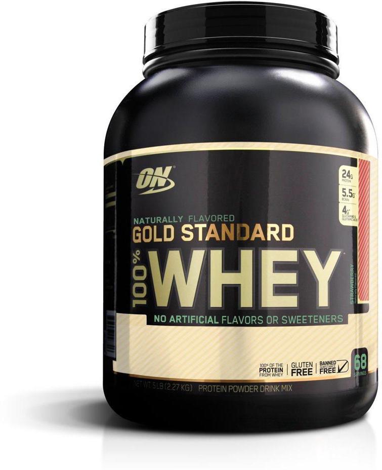 Протеин Optimum Nutrition 100% Natural Whey Gold Standard Gluten Free, клубника, 2,17 кг748927053081100% Whey Gold Standard NATURAL - не содержит искусственных компонентов и вырабатывается из высококачественного молока путем низкотемпературной обработки, что позволяет сохранить биологически активные микрофракции. 100% Whey Gold Standard NATURAL проходит процессы концентрации, ультрафильтрации, ионозамещения и перекрестной микрофильтрации, что позволяет полностью отделить холестерин и лактозу. Это делает продукт идеальным при низкожировой и низкоуглеводной диете. Легко размешивается ложкой. Без глютена.Состав: протеиновая смесь (изолят сывороточного протеина, концентрат сывороточного протеина, сывороточные пептиды), сгущенный порошок сока тростника, натуральные ароматизаторы, лецитин, ксантановая камедь, rebaudioside a, лактаза.Товар сертифицирован. Рекомендуем!